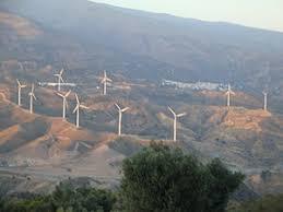 Detalle. Vista General de parque eólico